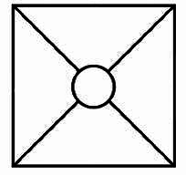 Symbolické označení meditace Pyramida